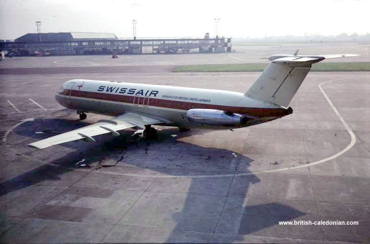 BAC 1-11 G-AWYS (Swissair Lease 1970)
