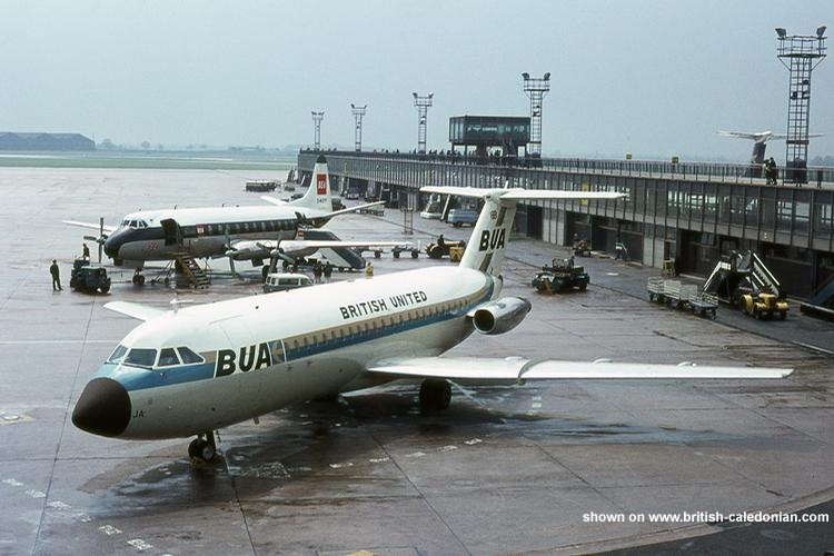 BUA 1-11 G-ASJA at Manchester - late 1960s