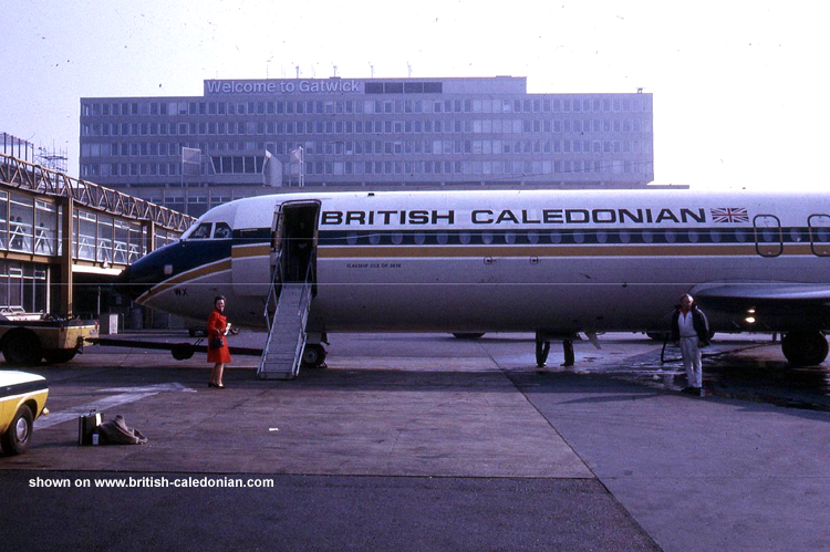 BCal 1-11 G-AWWX in 1973 at LGW
