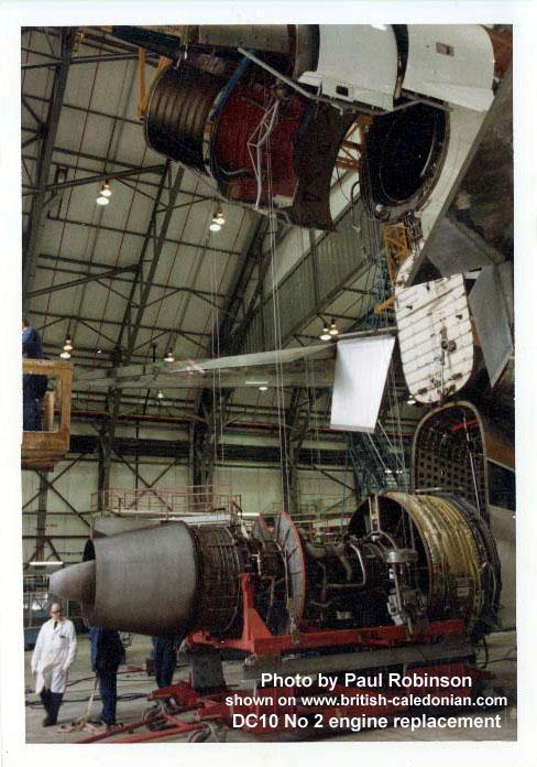 BCal DC10 No 2 engine