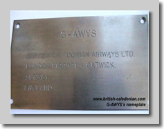 Aircraft Operators Plate