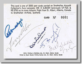 Signed commemorative postcard
