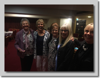 Di Realff (Huxtable), Marilyn Cuss, Wendy Easthill (Magney), Gill Goodchild (Kearn) and Barbara Hook