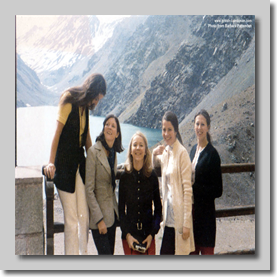 Portillo Chile circa 1974 (Barbara 2nd from Left)