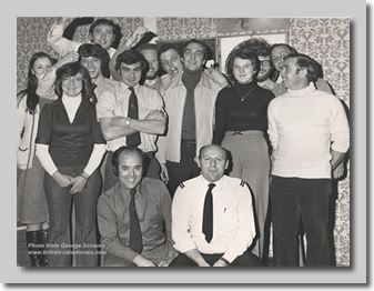 Darts Team:  Sue ?, Hazel?, ? , Guy Boyling, Roger Harris, George Scowen, Laurie Evans, Colin Williams, ?, Simon Rickard, Howard Meredith, Ken O'Connell, Front Row: John Rickman, Ken Woolley