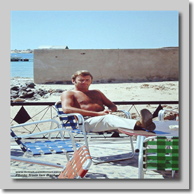 Saudi Hadj March 1972 - Ian at the creek waiting for the boat trip