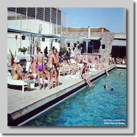 Cally staff relaxing at the Al-Attas Hotel Pool Jeddah - Hadj March 1972