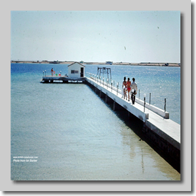 Cally staff assembling at Al Attas boat dock - Red sea creek Nr Jeddah - Hadj 1972
