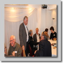 An animated Pete Wallace; Trevor Warburton talking to Tony Realff; Ian Saunders; Ricky Cuss; Marilyn White; Sue Jenkinson