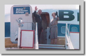 The Queen and Prince Philip boarding Lima Mike in Algiers