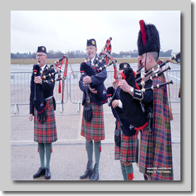 The Caledonian Pipe Band plays