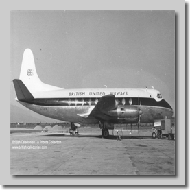 BUA Viscount G-ARGR at LGW on 04-03-1961